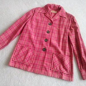 Vintage 50s pendelton pink wool 49ers jacket